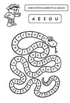 A Arte de Educar: Atividades Folclore … Letter Assessment, Preschool Assessment, Phonics Worksheets, Kindergarten Worksheets, Baby Learning, Preschool Activities, English For Students, English Activities, Baby Mickey