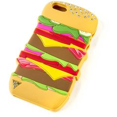 Katy Perry 3D Hamburger Cover for iPhone 5, 5s and 5c | Claire's ($35) ❤ liked on Polyvore featuring accessories, tech accessories and claire's