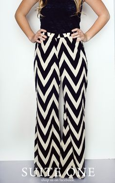 chevron wide leg pants!