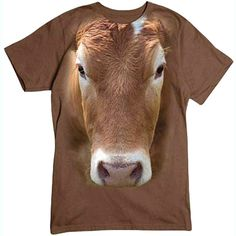 Brown Cow T-shirt by RoloWear Small thru 6X-Large by RoloWear