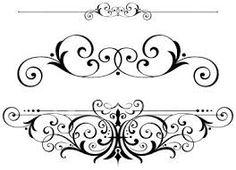 fancy scrolls scrollwork clipart vector fretwork swirls accents ornamental embellishments ornamentation text calligraphy decor fleur di lis framework frames borders designs