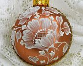 Copper Color MUD Ornament with Rhinestone Bling
