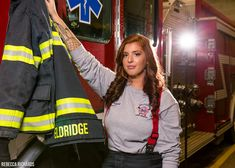Senior portrait firefighter pose with jacket Firefighter Emt, Female Firefighter, Photography Women, Boudoir Photography, Women Firefighters, Firefighter Photography, Bangor Maine, Female Fighter, Fire Fighters