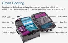 Smart Packing Tips. Oh I definitely need this.