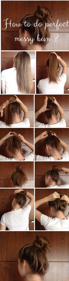 Perfect messy bun tutorial How to do perfect messy bun? #hairstyle #cute #hair…