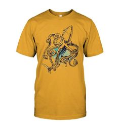 Sealife Squid Shirt - #SealifeSquidShirt #squid Buy T Shirts Online, Mens Tops, Cotton, Fashion, Moda, Fashion Styles, Fashion Illustrations