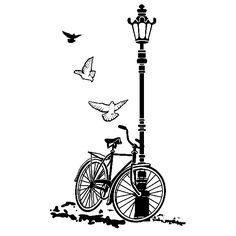 Vinilos Decorativos: Bicicleta y Farola