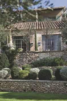 Back Gardens, Outdoor Gardens, Garden Retaining Wall, Old Stone Houses, House By The Sea, Mediterranean Garden, French Cottage, French Country Style, Garden Planning