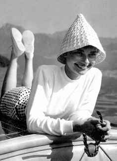 Audrey Hepburn - some women look fabulous even in silly hats! It's just not fair...