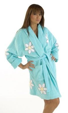 Terry Cloth Bathrobes for Women to wear. Comfortable way to keep cozy and warm after bathing.