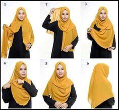 How to put on, wear the Hijab? - How to put on, wear the Hijab? Hijab Casual, Hijab Outfit, Hijab Style Dress, Stylish Hijab, Hijab Chic, Tutorial Hijab Pashmina, Square Hijab Tutorial, Simple Hijab Tutorial, Hijab Style Tutorial