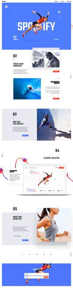 Sportify App Landing Page - via @designhuntapp