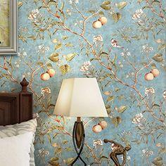 SB-amerikanischen Retro-Stil Vogel Hintergrundbild schlafzimmer wohnzimmer Hintergrund Normalpapier Tapeten, master Zeichenfarbe, 10m*0.53m