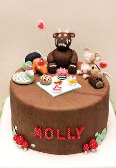 Bondville: Gruffalo Party 2 by Bronnie Bakes 2 Birthday Cake, Birthday Parties, Birthday Ideas, Fondant Owl, Gruffalo Party, Woodland Cake, Jungle Cake, Dessert, Cakes For Boys