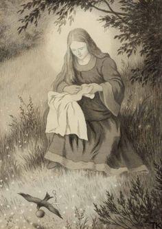 """Jomfru Maria Og Svalen"" Theodor Kittelsen* ""The Virgin Mary and the Swallow)"