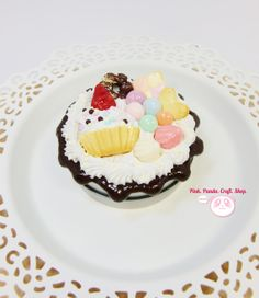 Sweet clay miniature decoden tin container by pinkpandacraftshop, $18.00  #handmade #sweetdeco #kawaii #cute #clay #icecream #tin #decoden #container #strawberry #pastel #dessert #fakesweet #faux #miniature