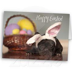 French Bulldog Easter Card!