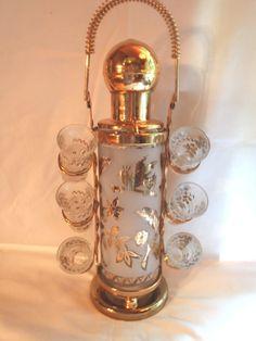 Vintage Barware Brass Decanter Shooter by Dupasseaupresent, $38.23