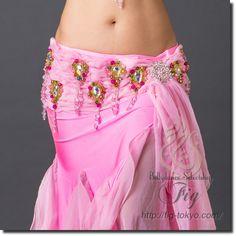 「ベリーダンス衣装・通販 Fig」で取り扱う商品「エジプト製 ベリーダンス衣装 一体型 / LightPink(20ya1610-14)」の紹介・購入ページ