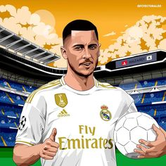 Excellent football player illustrations created by FCVectoraldo. Football Design, Football Art, Nike Football, Messi, Hazard Real Madrid, Real Madrid Wallpapers, Soccer Art, Real Madrid Players, Eden Hazard
