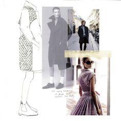 Fashion Sketchbook layout - smocked jacket, fashion design development - fashion drawing; fashion mood board; fashion portfolio // Faiza Matovu