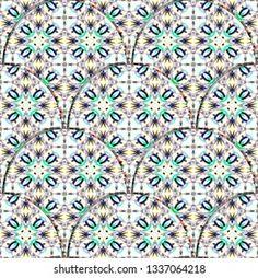 Tile Repeating Vector Border Geometric Halftone Stok Vektör (Telifsiz) 1106578688 Motifs Islamiques, Vector Border, Illustrations, Tile Patterns, Tile Design, Royalty Free Stock Photos, Blanket, Tiles, Colorful