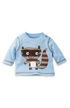 Mini Boden Monster Appliqué T-Shirt