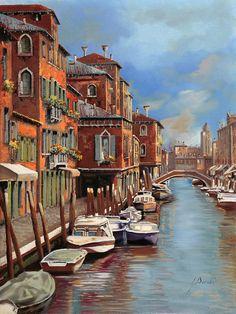 Murano Painting - nuvole a Murano by Guido Borelli ■♤♡♢♧☆■