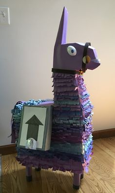 Fortnite llama piñata decoration Birthday Party Games, 9th Birthday, Birthday Party Decorations, Halloween Themes, Party Time, Impreza, Birthdays, December, Party Ideas