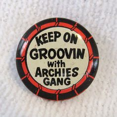 RARE Vintage Keep on Groovin with Archies Gang Pin Button Old Comic Collectable   eBay