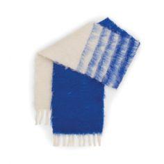 Loewe Scarves & Shawls - DEGRADE STRIPES SCARF 20X160 Ivory/blue