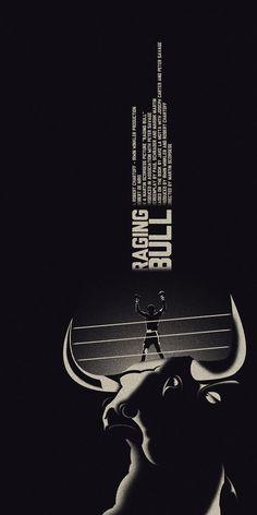 Alternative movie poster for Raging Bull by Dan Sherratt