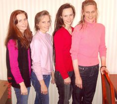 """""""Wives"""" of Warren Jeffs, disguised in """"Gentile"""" clothing while Warren was on the run. Left to right: Naomie Jessop (former child-bride of Rulon); Annette Barlow Jeffs (abused first and legal wife); Patricia Keate (former child-bride of Rulon); and Michelle Barlow (former stepmother)."""