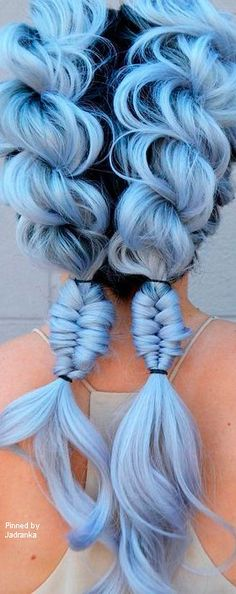 Not so big a fan of the blue but the hair style is so adorable!