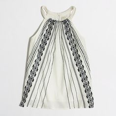 J.Crew Factory - Factory embroidered rope-strap camisole