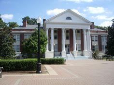 Monroe Hall, University of Mary Washington.    - Many long hours in the cartography lab!