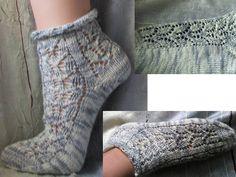 Material: Sockenwolle, Nadelspiel Schemazeichnung des Musters: Musteraufteilung: mit der 1. Nadel – eine Randmasche, 1 Rapport mit der 2. Nadel – eine Randmasche, 1 Rapport, eine Randmasche mit der…