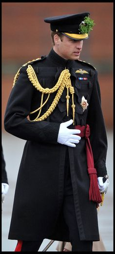 thebritishnobility: Prince William Given New Role as 'Personal Aide de Camp' to the Queen New position has few duties but will be seen as symbolic of William's growing role within the royal family. The Duke of Cambridge has been made a personal aide-de-camp to the queen, it was announced today. William's honorary appointment was detailed in the Court Circular and the duke wore the insignia for the first time at the St Patrick's Day parade for the 1st Battalion Irish Guards at Mons Barracks