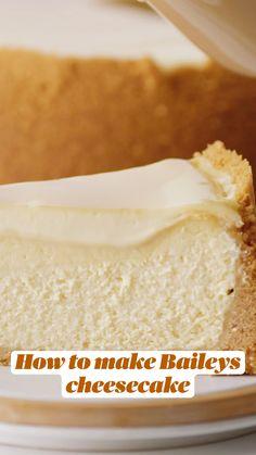 Almond Recipes, Baking Recipes, Snack Recipes, Dessert Recipes, Snacks, Baileys Cake, Baileys Cheesecake, Best No Bake Cheesecake, Cheesecake Recipes