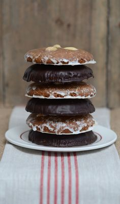 Lebkuchen - German iced Gingerbread/Honey cookie.