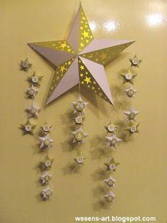 . . . Wesens-Art: Adventskalender Stern / Advent Calendar Star