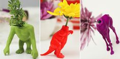 so fun and different - diy wild animal bud vases // Lovely Indeed