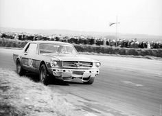 1966 Ford Mustang racecar. Interesting scoops under the bumper.