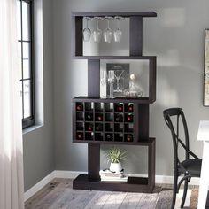 >@ Matson 24 Bottle Floor Wine Glass Rack By Zipcode Design Wine Bottle Rack, Bottle Wall, Wine Glass Holder, Wine Racks, Bottle Opener, Bar Interior, Tonneau Bar, Tabletop, Home Bar Cabinet