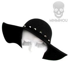Chapéu de feltro Floppy Spiked - Miniminou