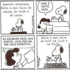 Snoopy namorando miúdas...