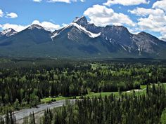 'The Wedge' across Kananaskis Country Golf Course from Village Rim Trail