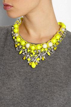 ShouroukTheresa Swarovski crystal necklace
