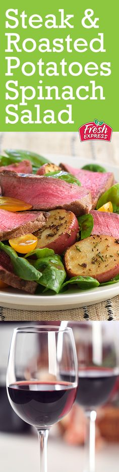 Looking for a salad favorite and the perfect red wine to pair with it? Try our Steak & Roasted Potatoes Spinach Salad with your favorite Cabernet Sauvignon. Dinners To Make, Easy Meals, Healthy Food To Lose Weight, Healthy Eating, Cabernet Sauvignon, Easy Healthy Recipes, Great Recipes, Steaks, Roasted Potatoes