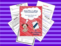 This is a cute mini book study with activities for the book Dear Mrs. LaRue by Mark Teague.
